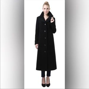 Talbots Collared Lined Black Button Trench Coat